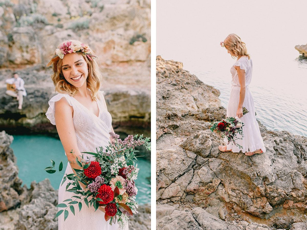 boho wedding bride mallorca Wedding Photographer in Mallorca | Beach Boho Wedding Inspiration
