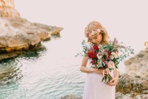 mallorca wedding photographer bride beach 300x200 7
