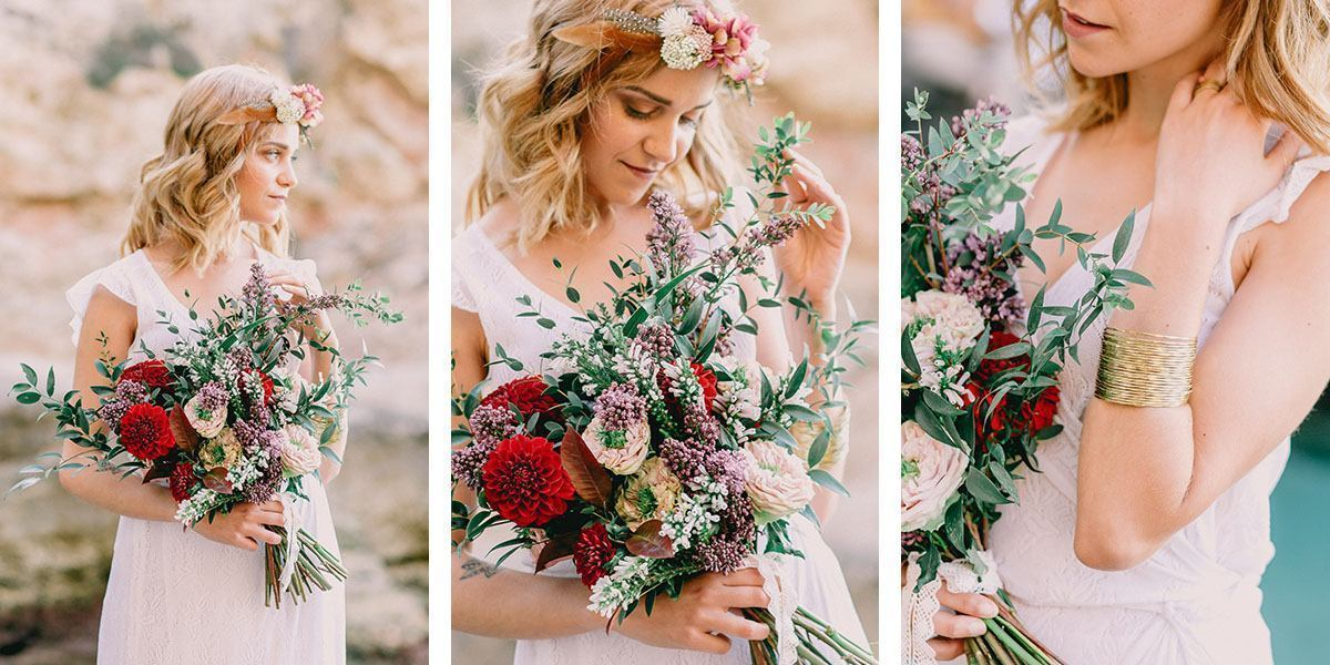 mallorca wedding photos boho bride Wedding Photographer in Mallorca | Beach Boho Wedding Inspiration