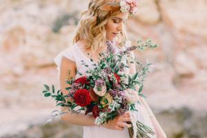 wedding photographer mallorca 300x200 boho bride and bouquet