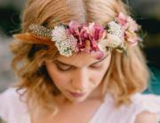 Mallorca wedding photographer - boho bride with flower crown