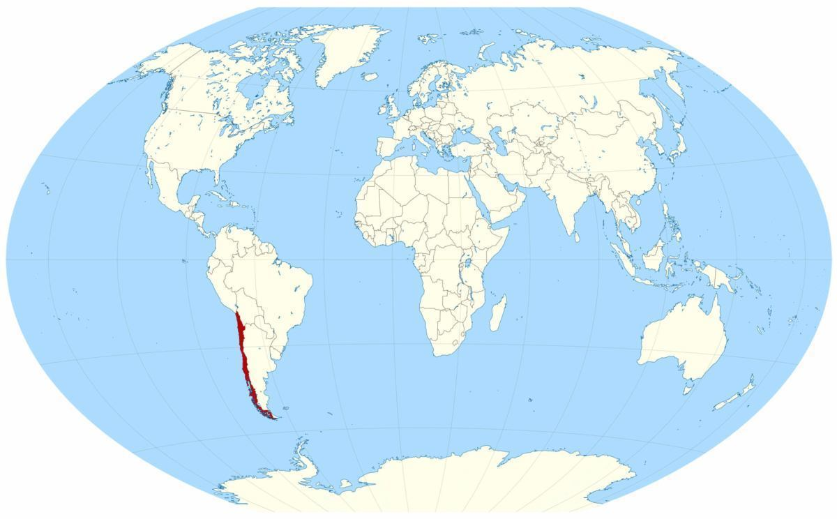large location map of Chile in the World 1200x744 Travel Dates