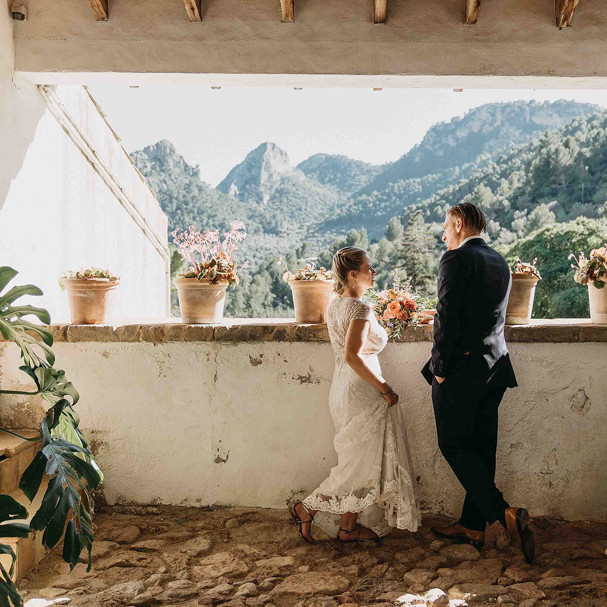 Tramutana wedding Elopement photographer Spain   hiking elopement near Deia