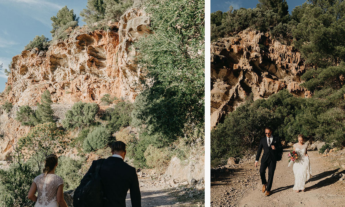 adventure wedding europe Elopement photographer Spain   hiking elopement near Deia